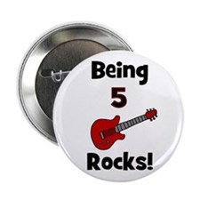 Being 5 Rocks! Guitar Button