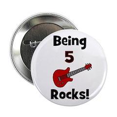 Being 5 Rocks! Guitar Button