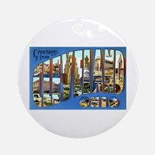 Cleveland Ohio Greetings Ornament (Round)
