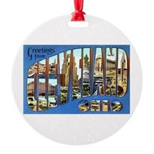 Cleveland Ohio Greetings Ornament