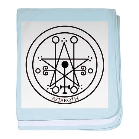 TILE Astaroth Seal - White BG.png baby blanket