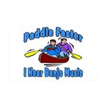 Paddle Faster Canoe 35x21 Wall Decal