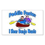 Paddle Faster Canoe Sticker (Rectangle 50 pk)