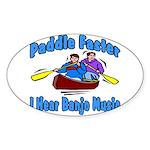 Paddle Faster Canoe Sticker (Oval 10 pk)