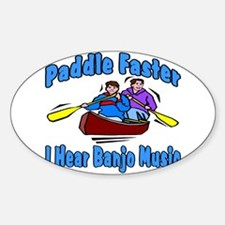 Paddle Faster Canoe Decal