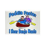 Paddle Faster Canoe Rectangle Magnet (10 pack)
