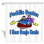 Paddle Faster Canoe Shower Curtain