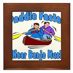 Paddle Faster Canoe Framed Tile