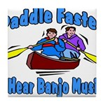 Paddle Faster Canoe Tile Coaster