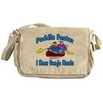 Paddle Faster Canoe Messenger Bag