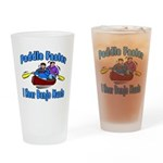Paddle Faster Canoe Drinking Glass