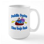 Paddle Faster Canoe Large Mug