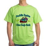 Paddle Faster Canoe Green T-Shirt