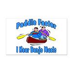 Paddle Faster Canoe Rectangle Car Magnet