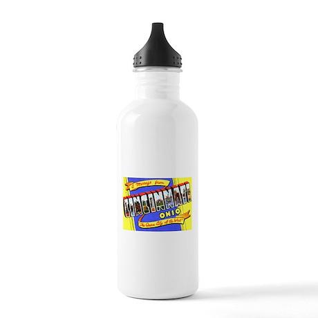 Cincinnati Ohio Greetings Stainless Water Bottle 1