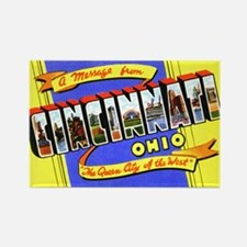 Cincinnati Ohio Greetings Rectangle Magnet (10 pac