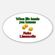 When Life Hands You Lemons Oval Decal