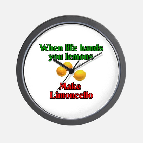 When Life Hands You Lemons Wall Clock