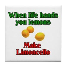 When Life Hands You Lemons Tile Coaster