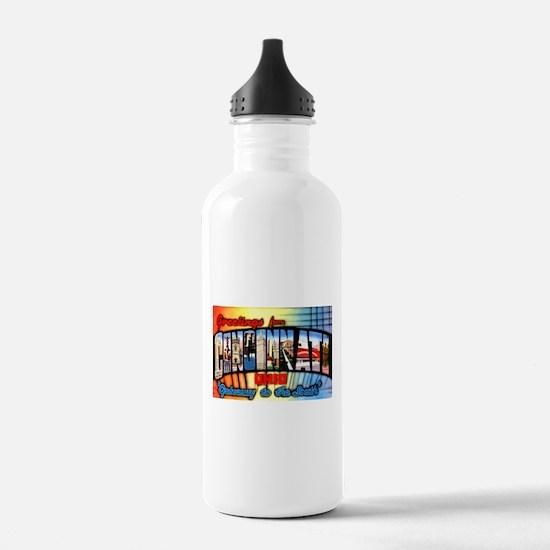 Cincinnati Ohio Greetings Water Bottle