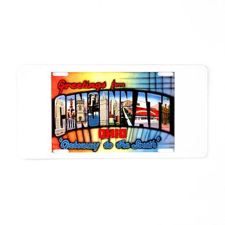 Cincinnati Ohio Greetings Aluminum License Plate