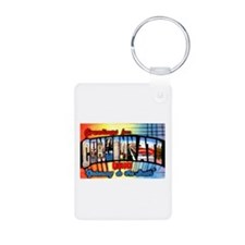 Cincinnati Ohio Greetings Keychains