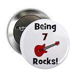 Being 7 Rocks! Guitar Button