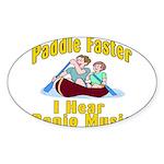 Paddle Faster I hear Banjos Sticker (Oval)