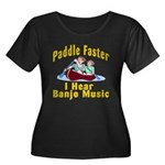 Paddle Faster I hear Banjos Women's Plus Size Scoo