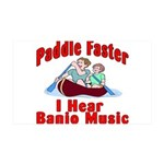 Paddle Faster 35x21 Wall Decal