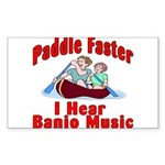 Paddle Faster Sticker (Rectangle 10 pk)