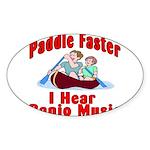 Paddle Faster Sticker (Oval 10 pk)