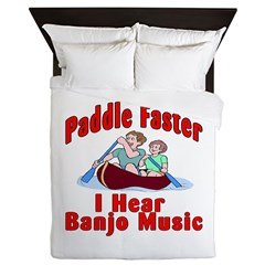 Paddle Faster Queen Duvet
