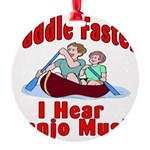 Paddle Faster Round Ornament