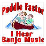 Paddle Faster Square Car Magnet 3