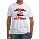 Paddle Faster Fitted T-Shirt