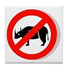 No Rhinos Tile Coaster