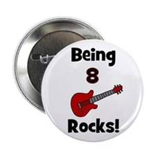 Being 8 Rocks! Guitar Button
