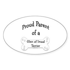 Proud Parent of a Glen of Imaal Oval Decal