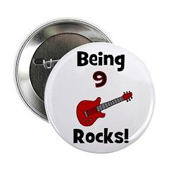 Being 9 Rocks! Guitar Button