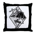 Canoe Skelton t.png Throw Pillow