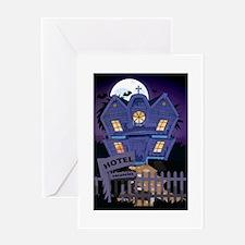 haunted hotel Greeting Card