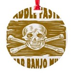 Paddle Faster Hear Banjos Round Ornament