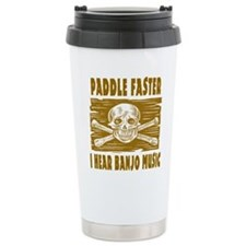 Paddle Faster Hear Banjos Travel Mug
