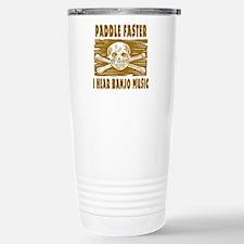 Paddle Faster Hear Banjos Travel Mug