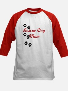 Rescue Dog Mom Kids Baseball Jersey