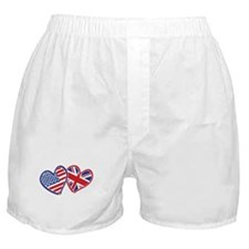 Patriotic Peace Sign and USA Flag Boxer Shorts