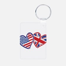 Patriotic Peace Sign and USA Flag Keychains
