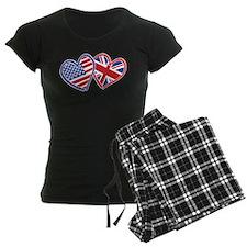 Patriotic Peace Sign and USA Flag Pajamas