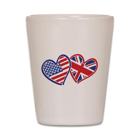 Patriotic Peace Sign and USA Flag Shot Glass